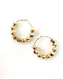 gold beads hoop earrings *pre-order*