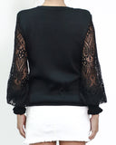 black knitted towpath crochet sleeves *pre-order*