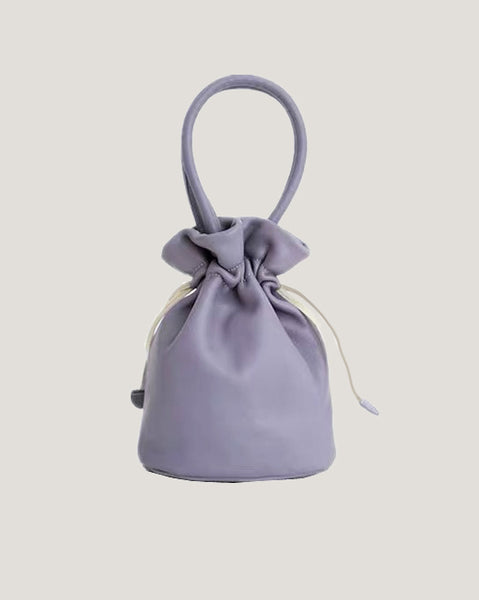 lilac PU leather small backpack *pre-order*