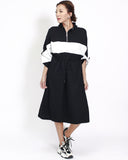 black with ivory panel sweat dress *pre-order*