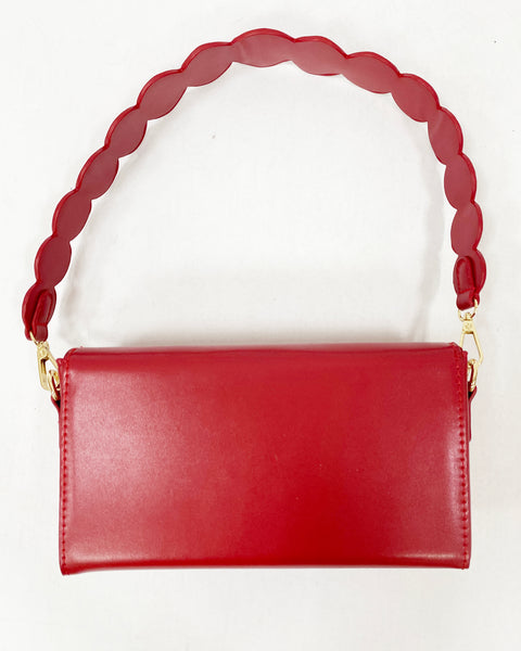 red round with strap PU leather handbag *pre-order*