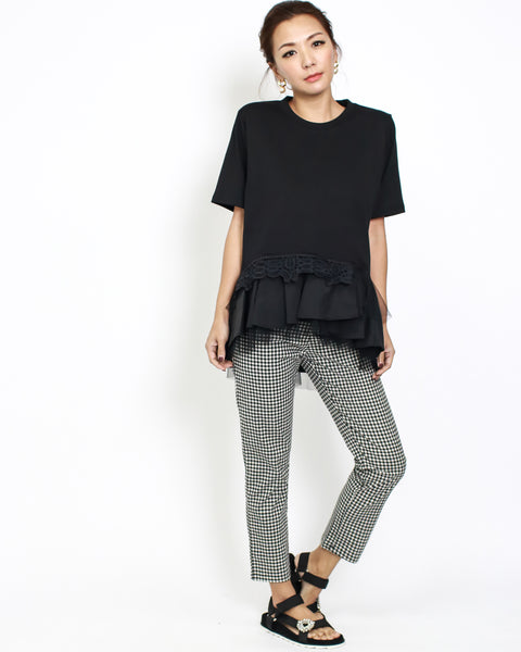black gingham cropped pants *pre-order*