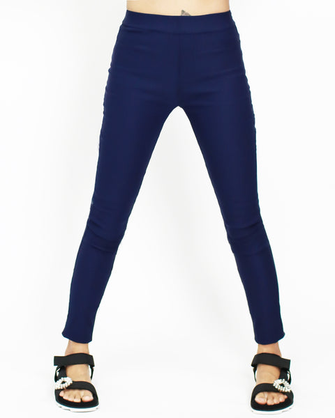 bright blue skinny leggings
