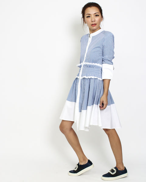 blue stripes with white shirt dress *pre-order*