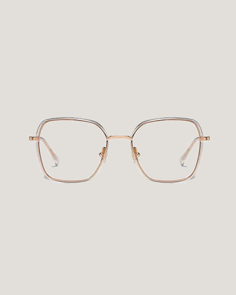 gold with clear lenses glasses *pre-order*
