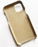 beige quilted pocket PU leather phone case *pre-order*