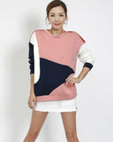 pink with navy & ivory neoprene top *pre-order*