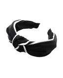black with white trim knot headband *pre-order*