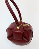 burgundy leather shape bag *pre-order*