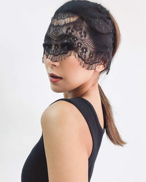 black lace front headband