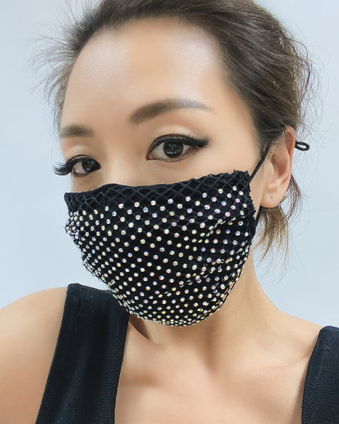diamonds mask with fabric layer *4 colours*