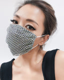 diamonds mask with fabric layer *4 colours* *pre-order*