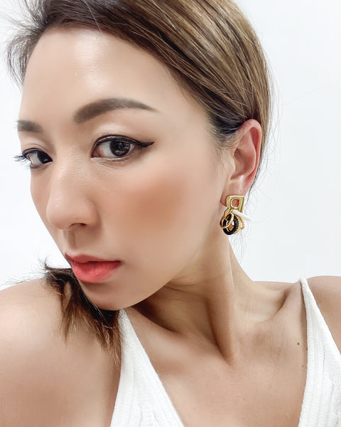 gold & loops earrings