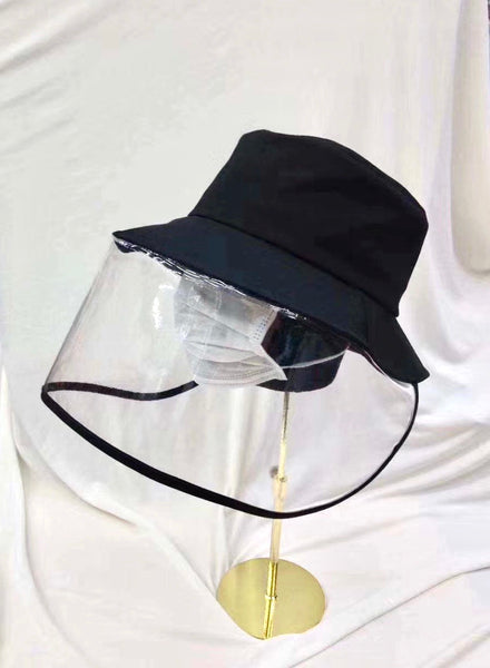 Black hat with pvc covered front *pre-order*