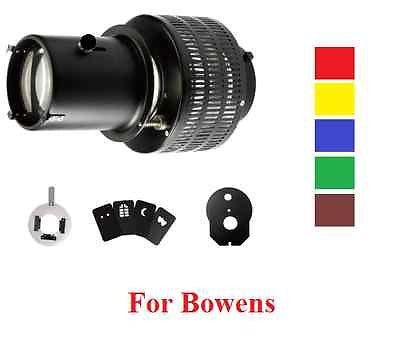 Strobe Optical Snoot + Color Card + Background Effect Slide Fit Bowens - Rocwing Photographic Equipment