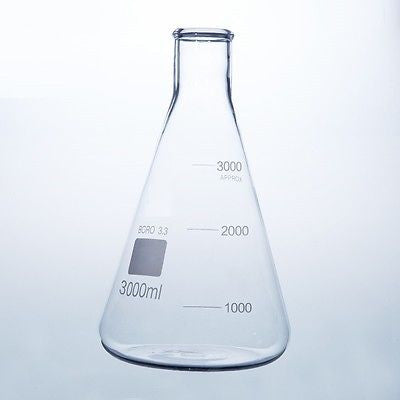 Borosilicate Glass Conical Flask Erlenmeyer Graduated Boro 3.3 Lab Glassware
