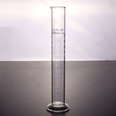 Glass Measuring Cylinder Sets Boro 3.3 Laboratory Glassware Borosilicate Fast PP