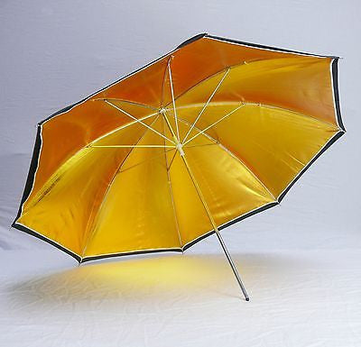 Gold Flat Design Reflective Umbrella - Rocwing Photographic Equipment