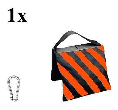 STUDIO SANDBAG ORANGE 52 x 25 cm + Carabiner 60x6mm - Rocwing Photographic Equipment