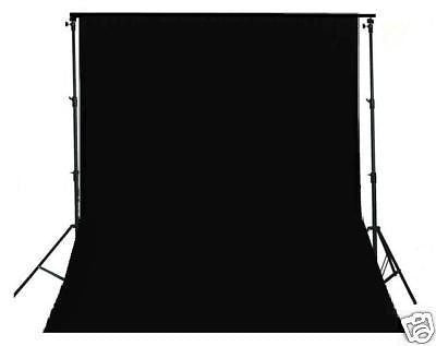 2.6m x 3m Heavy Duty Background Frame + Black Backdrop 3m x 6m - Rocwing Photographic Equipment