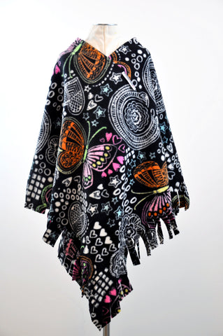 Big ButterflyMoo Fringed Children's Poncho