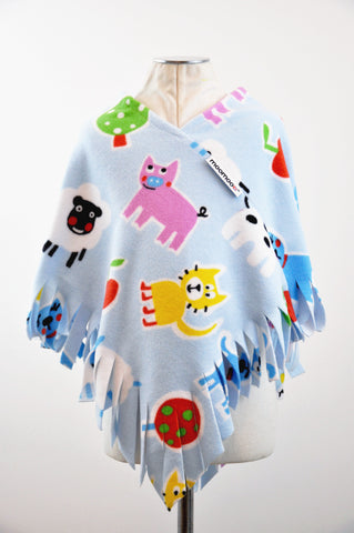 FarmyardMoo Fringed Children's Poncho