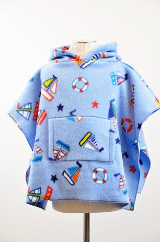 NauticalMoo with Pocket & Hood Children's Poncho