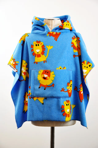 LionMoo Multi Children's Poncho with Pocket & Hood