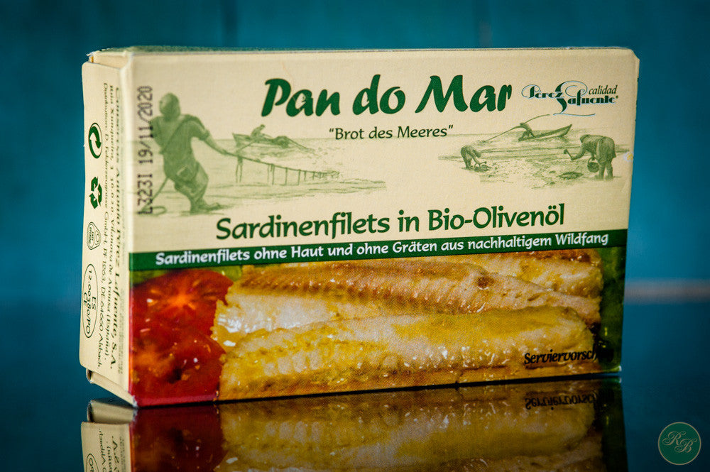 Pan Do Mar Sardine Fillets in Organic Olive Oil