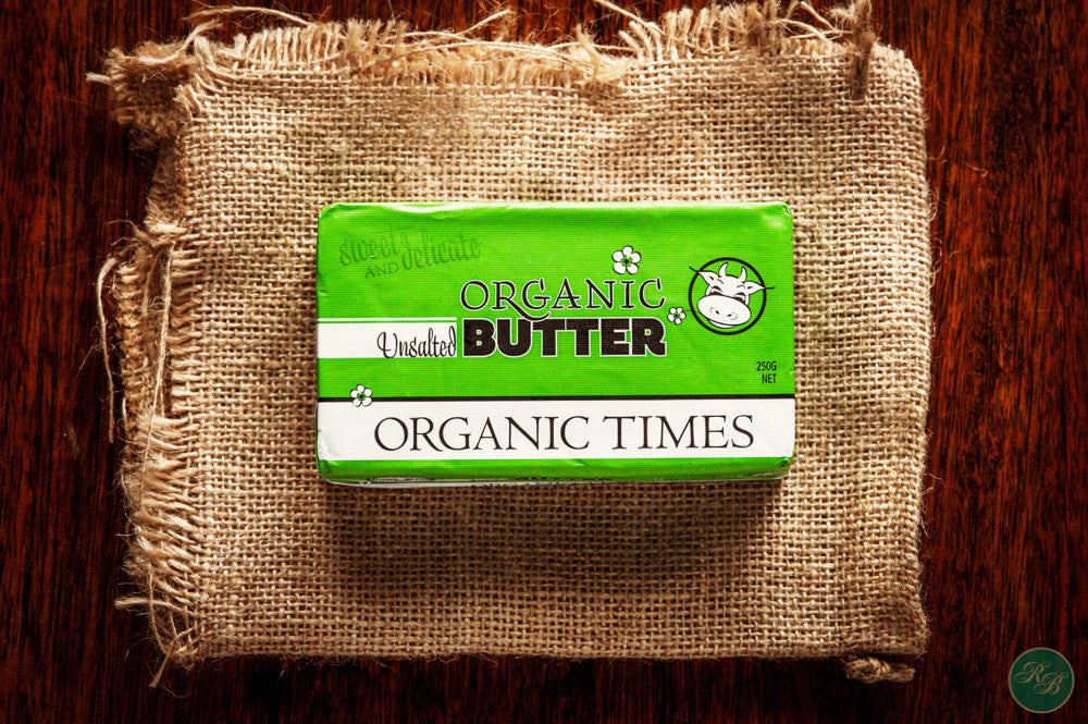 Organic Unsalted Butter (from Grassfed Cows)