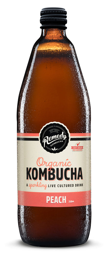 Remedy Kombucha Peach 750ml