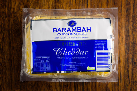 Barambah Organics Shredded Cheese 250g