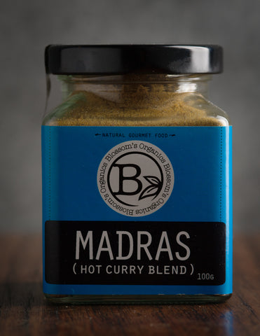 Blossom Organics Madras (Hot Curry Blend) 100g
