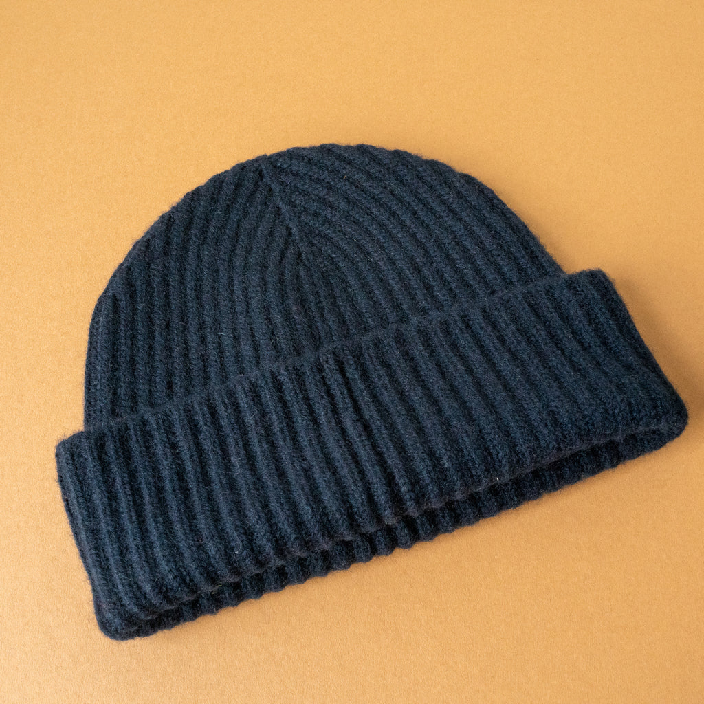 Navy Blue Cashmere Hat