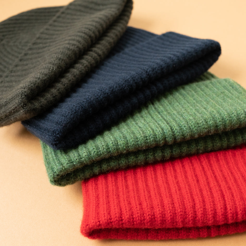 Green Cashmere Hat