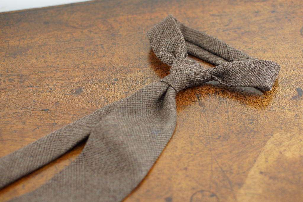 Brown Prince of Wales Fox Flannel tie