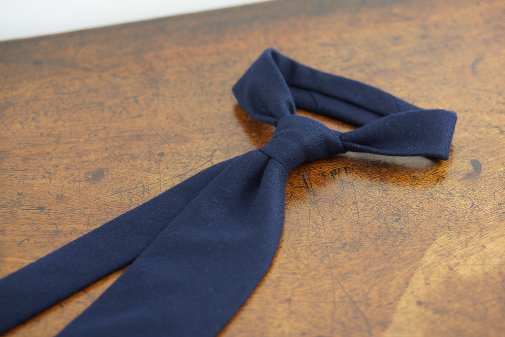 Navy blue Fox Flannel tie