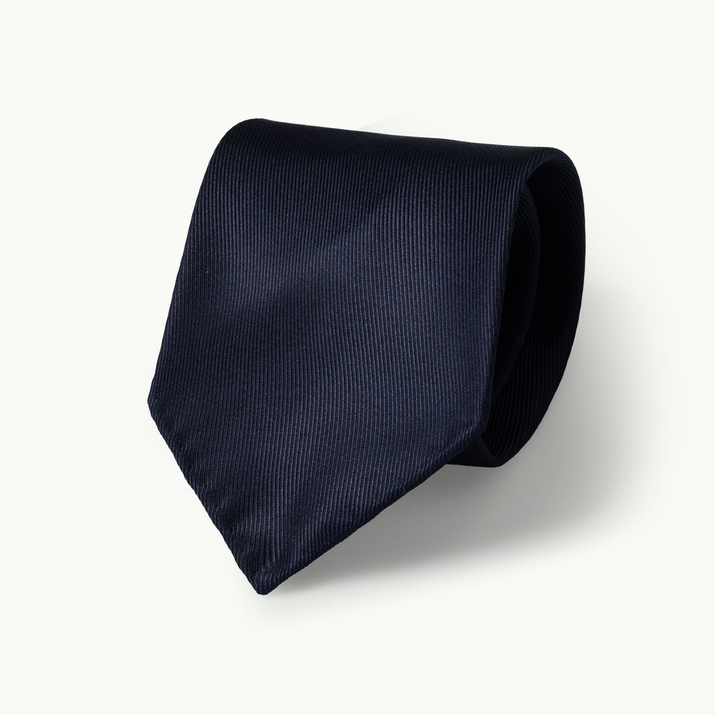 Navy Blue 50oz Silk Tie