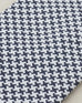 Navy and silver Houndstooth check silk