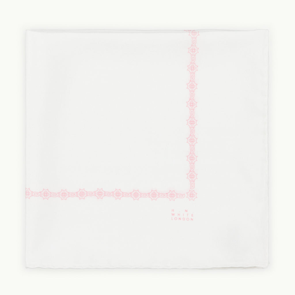 Off-White Silk Pocket Square