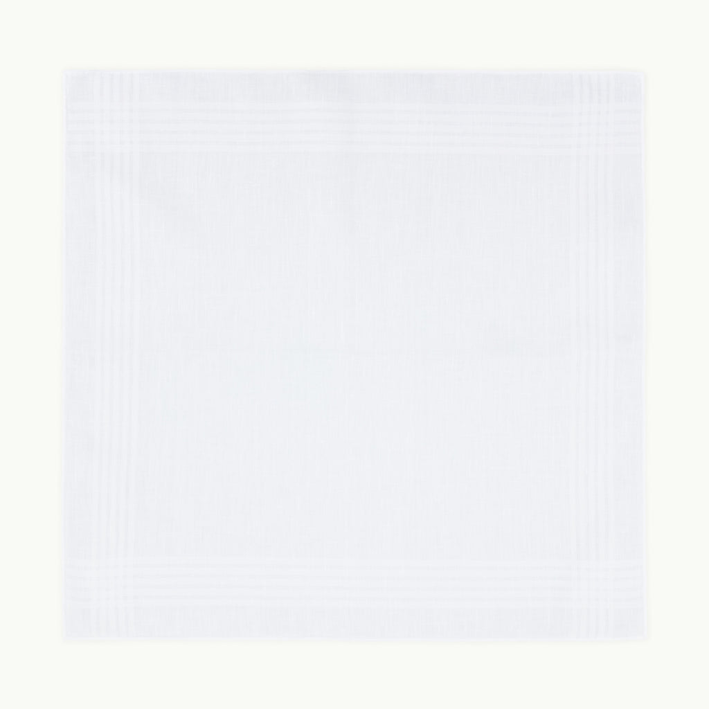 White Irish Linen Handkerchief