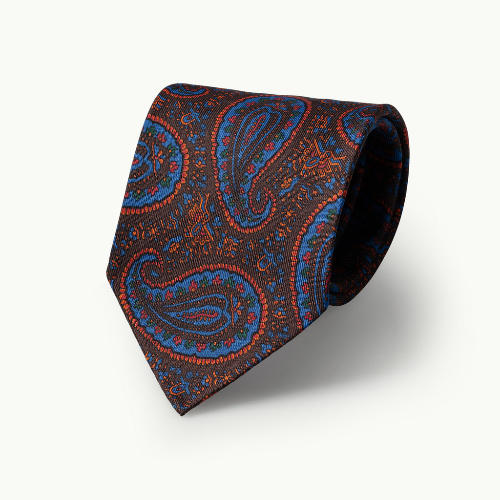 Brown Paisley Madder Tie