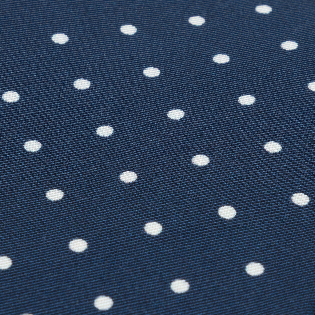 Navy spot Irish Poplin tie
