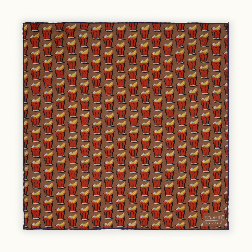 Brown Negroni Pocket Square