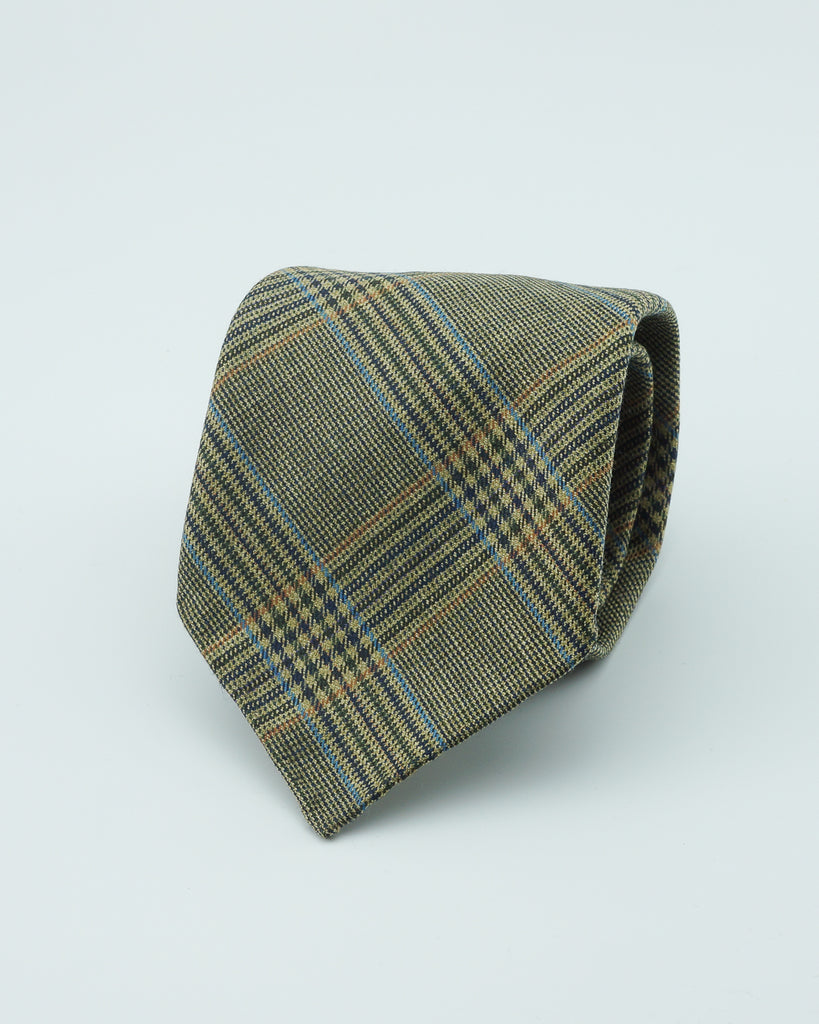 Glen check Huddersfield wool tie