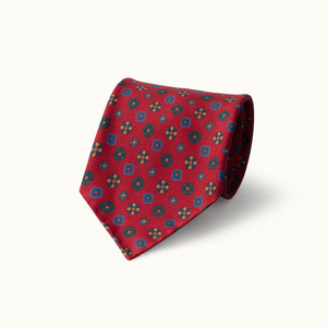 Red Neat Heritage Madder Silk Tie