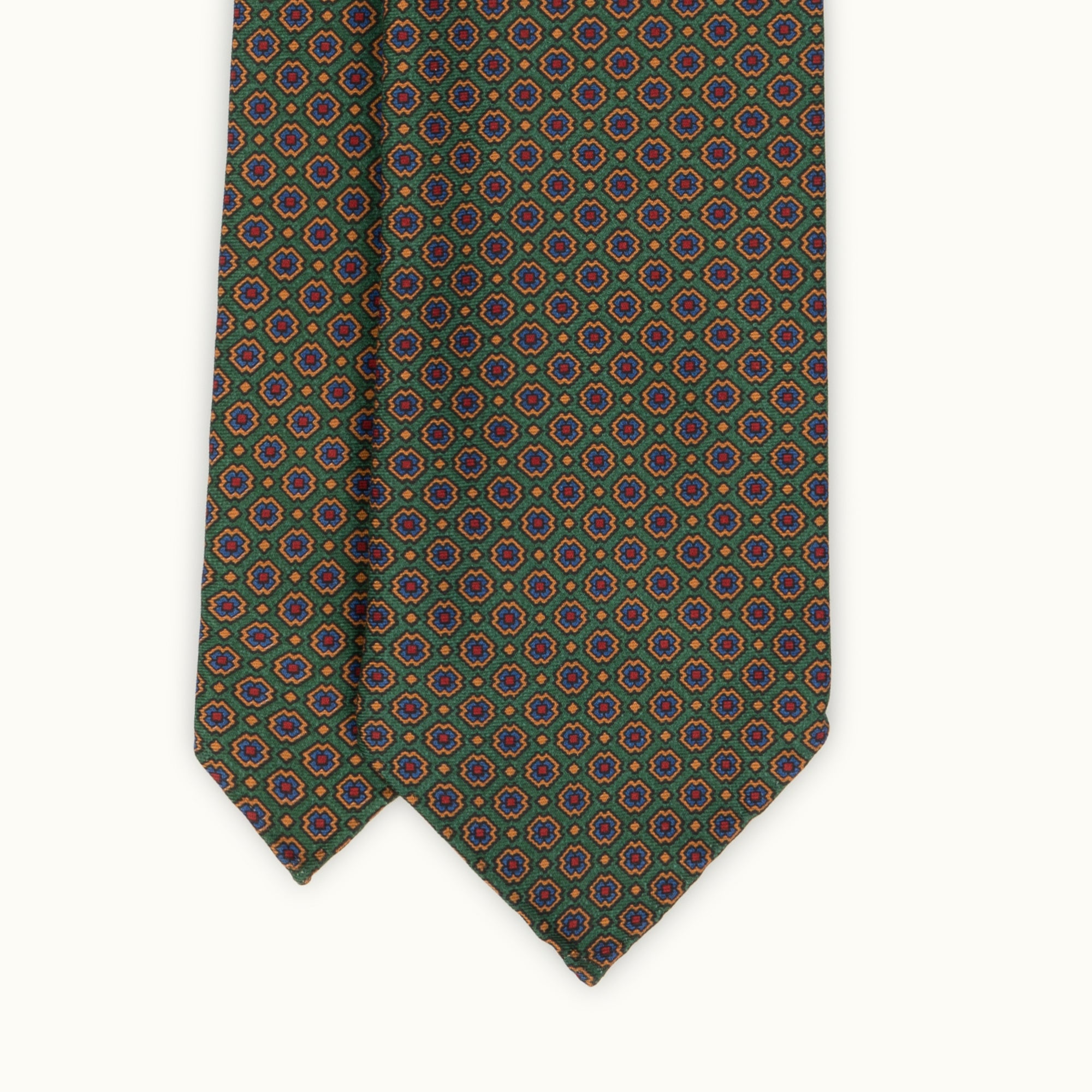 Green & Copper Heritage Madder Silk Tie