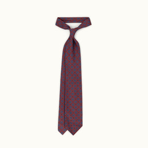 Muted Red Heritage Madder Silk Tie