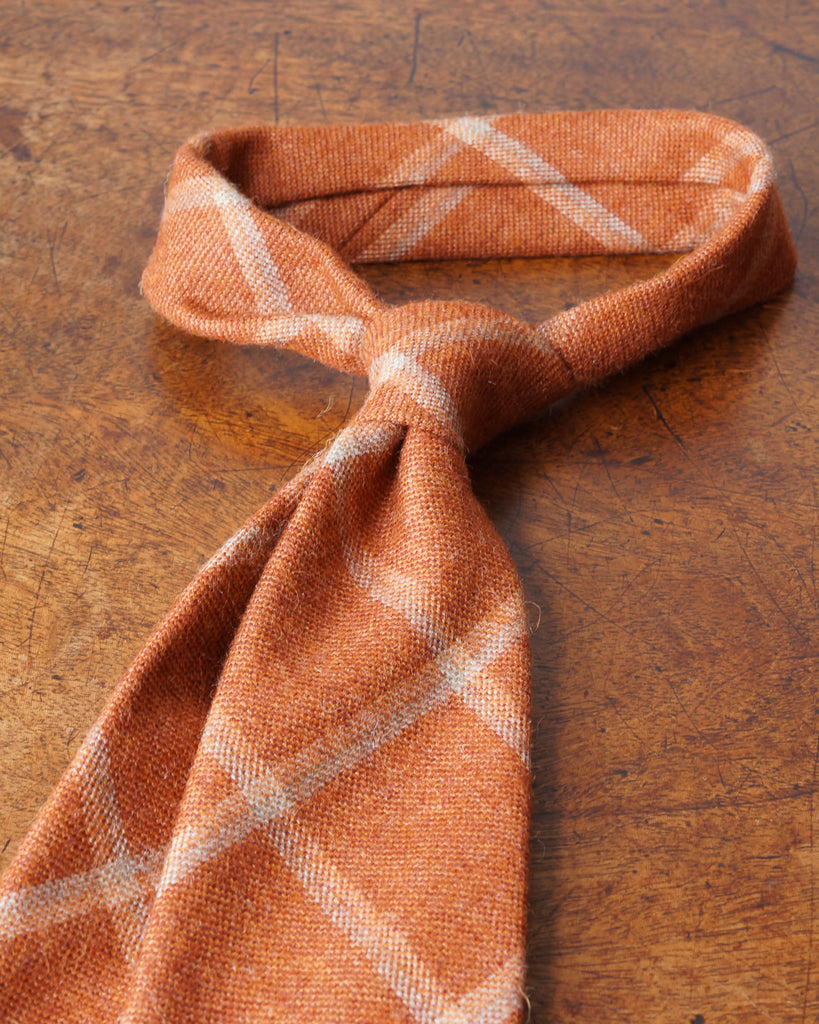 Rust windowpane SherryAlpaca tie