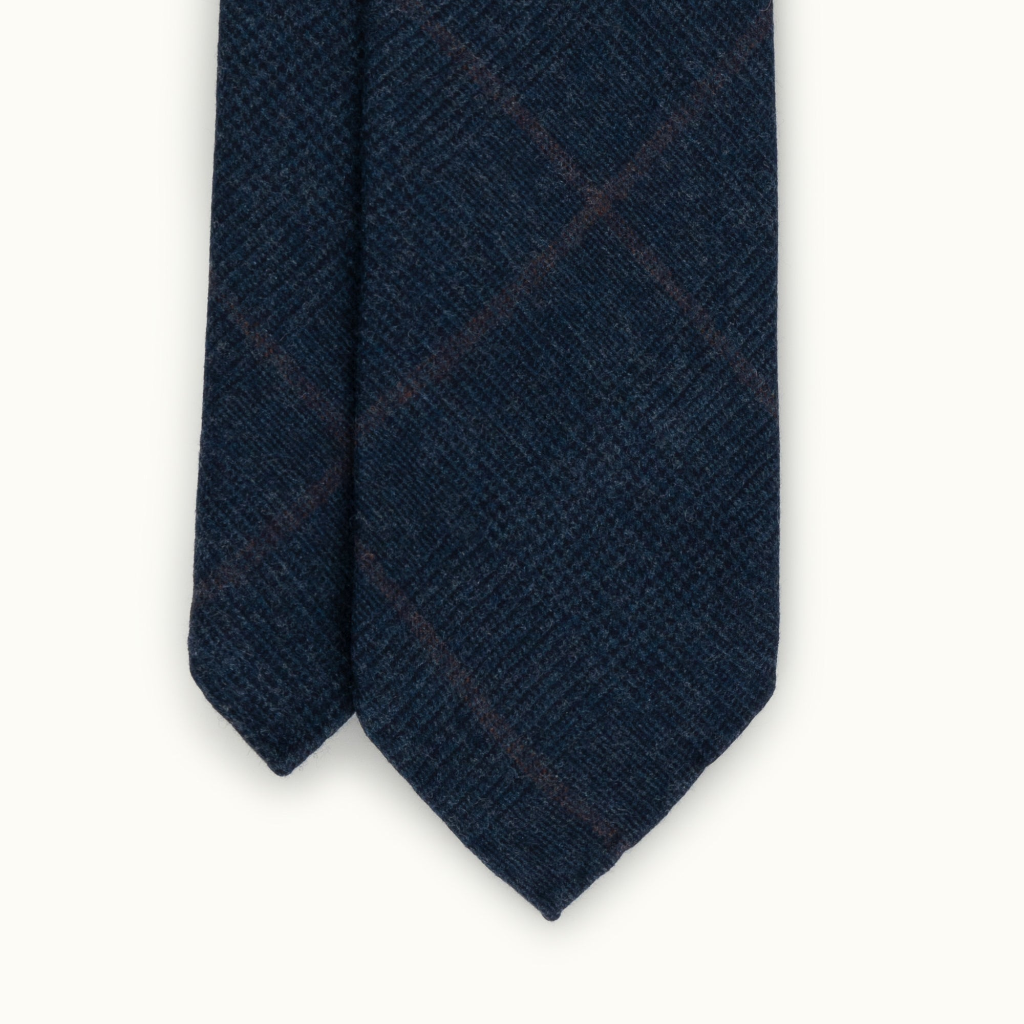 Navy Prince of Wales Fox Flannel tie